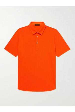 Loro Piana Men Polo Shirts - Cotton-Piqué Polo Shirt