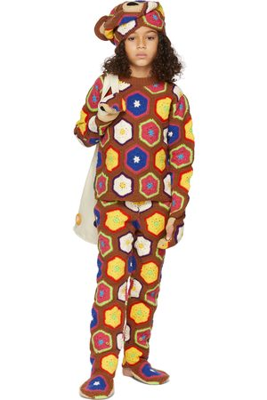 Doublet SSENSE Exclusive Kids Multicolor Crochet Bear Sweater