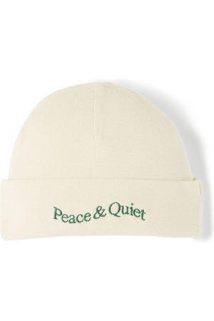 Museum of Peace & Quiet SSENSE Exclusive Baby Beige Word Mark Beanie