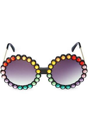 Bari Lynn Girl's Rainbow Round Sunglasses