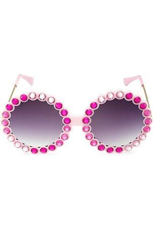 Bari Lynn Girl's Tonal Round Sunglasses