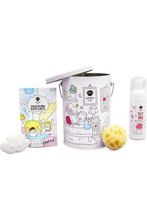 Nailmatic 4-Piece Bath Bomb, Soap & Crackling Salts Bucket Set