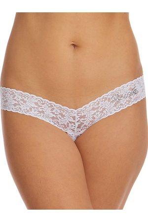 Hanky Panky Women Thongs - Signature Lace Bride Open Gusset Thong