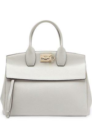 Salvatore Ferragamo Women Handbags - Medium Studio Leather Top Handle Bag