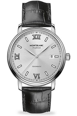 Montblanc Tradition Stainless Steel & Leather Strap Watch