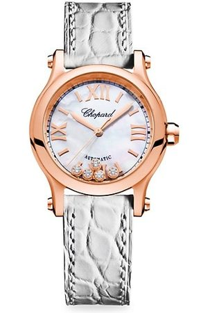 Chopard Happy Sport 18K Rose Gold, Diamond & Alligator Strap Watch