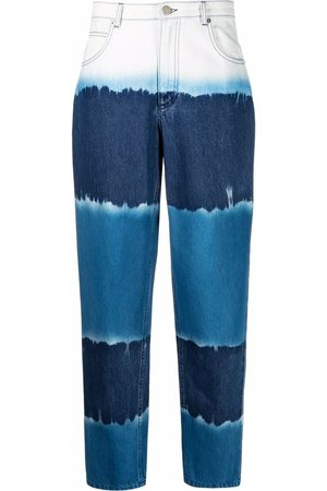 Alberta Ferretti Women Tapered - Tie dye tapered jeans
