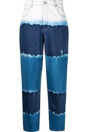 Alberta Ferretti Women Tapered - Tie dye tapered jeans