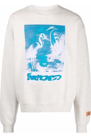 Heron Preston Men Sweatshirts - Graphic-print organic cotton sweatshirt