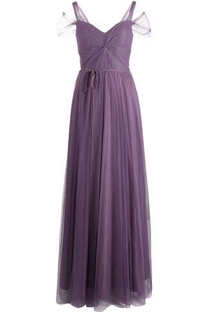 Marchesa Notte Short-sleeve floor-length gown