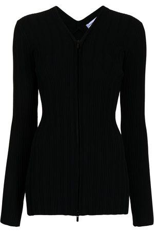 PROENZA SCHOULER WHITE LABEL Women Hoodies - Ribbed zip-up cardigan