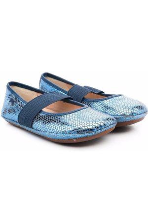 Camper Snakeskin-effect ballerina shoes