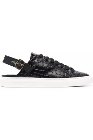 HIDE&JACK Croc-effect slingback sneakers