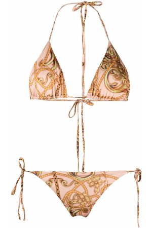 Philipp Plein New Baroque triangle bikini