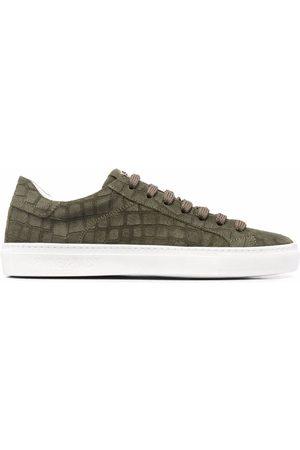 HIDE&JACK Croc-effect suede sneakers