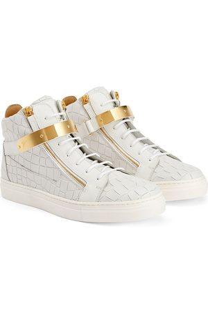 Giuseppe Zanotti Boys Sneakers - TEEN Kriss crocodile-effect sneakers