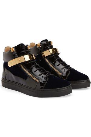 Giuseppe Zanotti TEEN Kriss 1/2 velvet-panelled sneakers