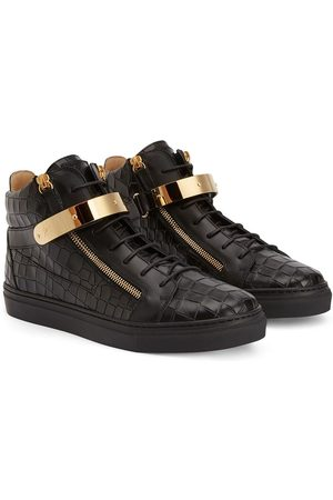 Giuseppe Zanotti TEEN Kriss 1/2 python-effect sneakers