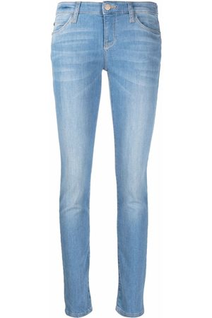 Emporio Armani Women Slim - J18 slim-fit worn-wash jeans
