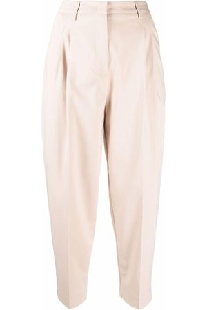 BLANCA Women Pants - High-waisted cropped trousers