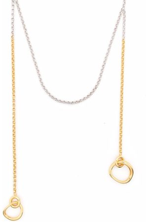 CHARLOTTE CHESNAIS Two-tone chain necklace