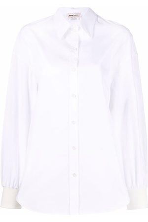 Alexander McQueen Women Long Sleeve - Button-up long-sleeve shirt