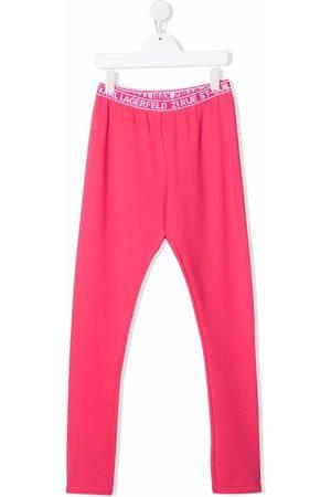 Karl Lagerfeld Girls Leggings - TEEN logo-print leggings