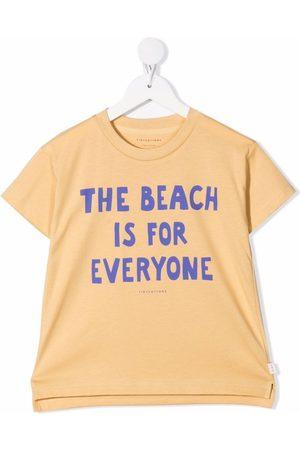 Tiny Cottons Girls Short Sleeve - Slogan-print T-shirt