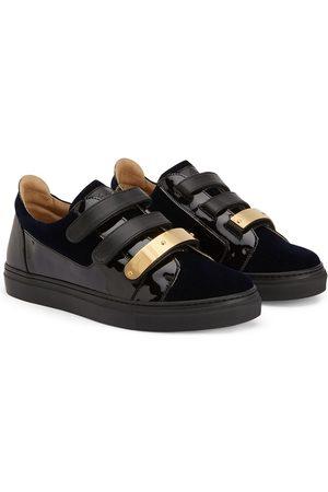 Giuseppe Zanotti TEEN Jody Jr velvet-panel sneakers