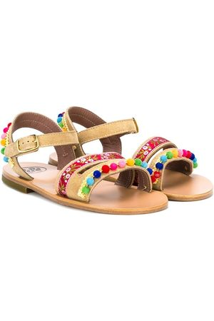 PèPè Embellished strap sandals