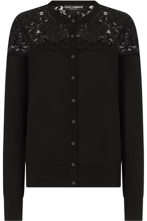 Dolce & Gabbana Women Tops - Lace panel knitted top