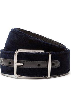 Dolce & Gabbana Velvet effect buckle belt