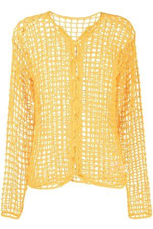 DION LEE Chain crochet-knit jumper