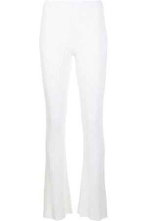 DION LEE Rib-knit flared trousers