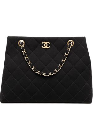 CHANEL 1998 CC diamond-quilted tote bag