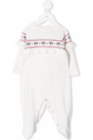 Chiara Ferragni Baby Pyjamas - Logo-tape cotton pyjamas