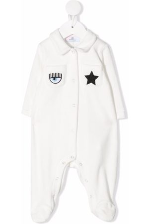 Chiara Ferragni Baby Pyjamas - Embroidered patch-pocket pyjamas