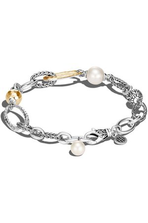 John Hardy 18kt yellow gold and Classic Chain pearl bracelet