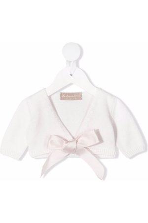 LA STUPENDERIA Short-sleeve tied cardigan
