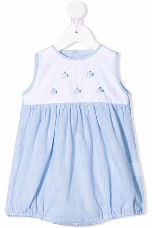 SIOLA Baby Bodysuits - Fish embroidery colour-block shorties