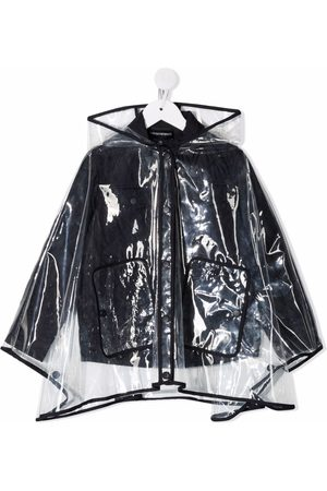 Emporio Armani Layered hooded raincoat