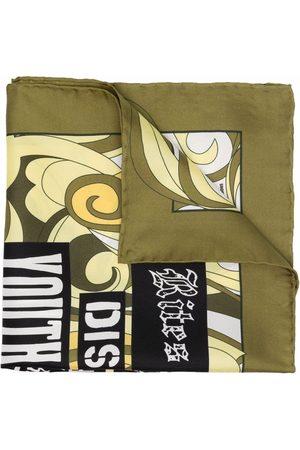 RAF SIMONS Slogan-print silk scarf