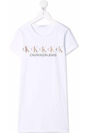 Calvin Klein Metallic logo print T-shirt