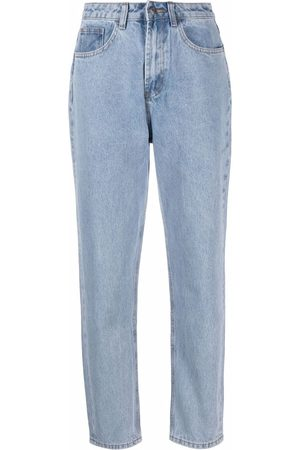 12 STOREEZ Mid-rise tapered jeans