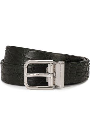 Dolce & Gabbana Men Belts - Embossed square-buckle belt