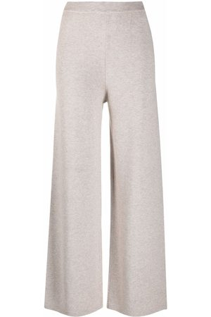 12 STOREEZ Women Wide Leg Pants - Wide-leg knit trousers
