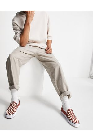 ASOS Men Chinos - Chinos in wide fit in -Neutral