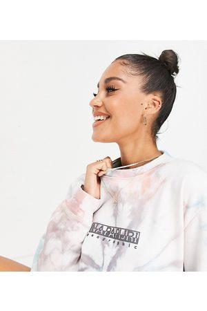 Napapijri Beatnik tie dye sweatshirt in multi Exclusive at ASOS