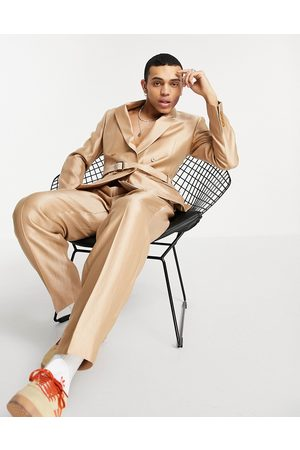 ASOS Slim suit jacket in metallic with utility belt and D-ring