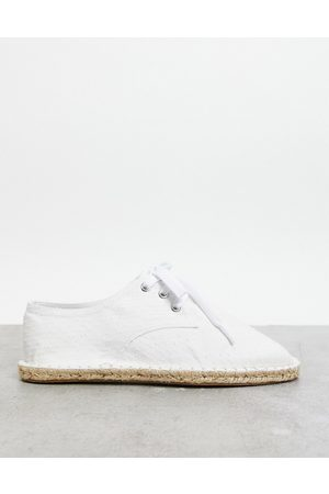 ASOS Lace up espadrilles in textured canvas